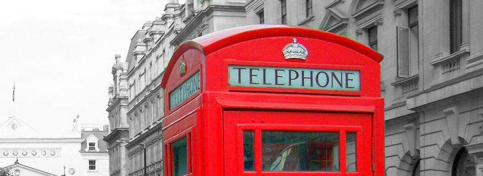 Picture of an old telephone box